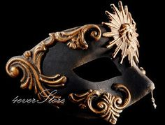 Warrior Mask  Venetian Masquerade Mardi Gras Prom by 4everstore, $27.95