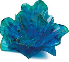 """Finished example of Chihuly-Inspired Art """"Glass"""" Project"""