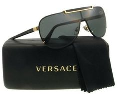b33f342bb879 Details about Authentic Italy Medusa Versace Sunglasses Men Pilot Aviator  Crystal Gold Black