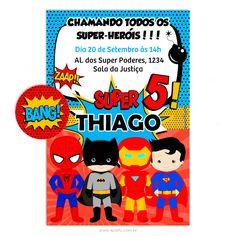Convite Digital Super-Heróis