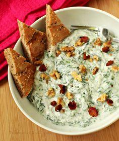 Persian Borani (aka spinach yoghurt dip)..so delicious, trust me!