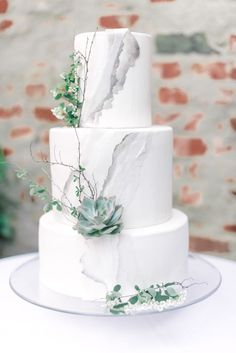 Floral Wedding Cakes Laser Cut Paper Inspires a City Chic Elopement - Creative Wedding Styling and Event Design Succulent Wedding Cakes, Floral Wedding Cakes, Elegant Wedding Cakes, Wedding Cake Designs, Wedding Decor, Wedding Ideas, Creative Wedding Cakes, Cake Wedding, Elegant Cakes