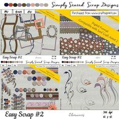 Easy Scrap  2   DIGIKIT Elements Pack on Craftsuprint - View Now! Packing, Scrapbook, Easy, Design, Bag Packaging, Design Comics, Scrapbooks