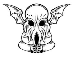 cute design for cthulhu, black an white Cthulhu, Working On Myself, Cute Designs, New Work, Behance, Gallery, Check, Art, Behavior