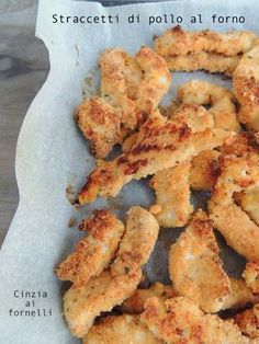 baked strips of chicken or straccetti di pollo o tacchino al forno baked strips of chicken or turkey - Paleo Chicken Nuggets, Chicken Nugget Recipes, Turkey Chicken, Baked Chicken, Meat Recipes, Healthy Recipes, Light In, Romanian Food, Recipe Mix