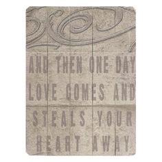 Paneled wood wall decor with a typographic motif and scroll-inspired accents. Product: Wall decor Construction Material: Wood Features: Ready to hang Dimensions: H x W Note: All hardware included Wood Wall Decor, Wood Wall Art, Cute Love Quotes, One Day, Hopeless Romantic, Romantic Mood, My Guy, My New Room, Joss And Main