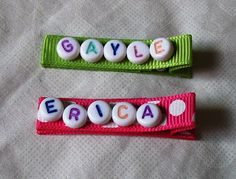 MyGooseyGoosey: Pretty Name Hair Clips