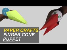 (7) How to Make Finger Cone Puppet - DIY Simple Paper Craft Designs | Origami Videos - YouTube