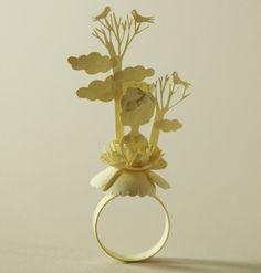 Elsa Mora . paper art, ring