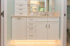 Coral Gables, Master Bath, Vanity, Bathroom, Painted Makeup Vanity, Washroom, Lowboy, Dressing Tables, Bath Room