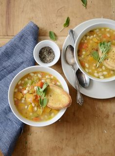 Tuscan White Bean Soup - Vegan