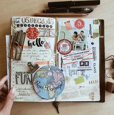 New Travel Journal Scrapbook Diy Smash Book 56 Ideas Album Journal, Scrapbook Journal, Junk Journal, Diy Scrapbook, Yoga Journal, Daily Journal, Photo Journal, Scrapbook Ideas For Couples, Scrapbook Ideas For Beginners