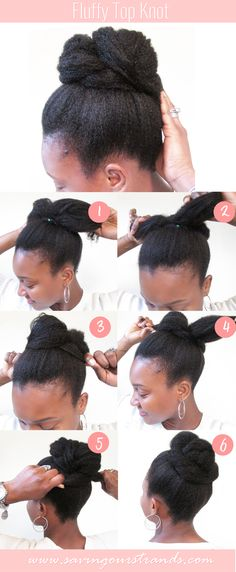 SavingOurStrands | Celebrating Our Natural Kinks Curls & Coils: [Tutorial] Top Knot For Natural Hair | The #WashDayExperience