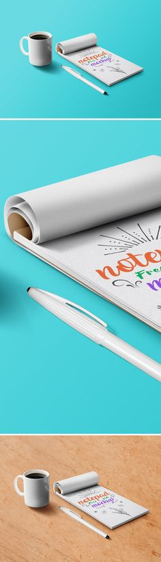 Free Notepad Mockup PSD (43.2 MB) | Graphics Fuel | #free #photoshop #mockup #psd #notepad