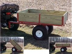 Lawn and Garden accessories, wheels, hitch pins, couplers and more by Country Lawn-Garden Lawn Tractor Trailer, Atv Dump Trailer, Atv Utility Trailer, Quad Trailer, Atv Trailers, Trailer Diy, Flatbed Trailer, Custom Trailers, Tractor Attachments
