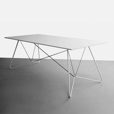 'On a String' table, OK Design. Iron Furniture, Modern Bedroom Furniture, Minimalist Furniture, Small Furniture, Home Decor Furniture, Table Furniture, Furniture Design, Ok Design, Plywood Table