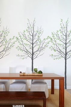 want to put some sort of wallpaper in my breakfast nook. Wall Decor, Room Decor, Tree Wallpaper, Wall Treatments, Decoration, Tiny Homes, Wall Stickers, Wall Murals, Wall Art