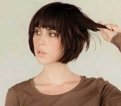 nice 20 Best Short hair with bangs // #bangs #Best #Hair #Short
