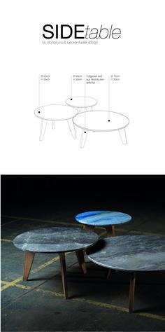 Beistelltische aus Naturstein. In verschiedenen Größen erhältlich. Layout, Table, Design, Furniture, Home Decor, Natural Stones, Timber Wood, Decoration Home, Page Layout
