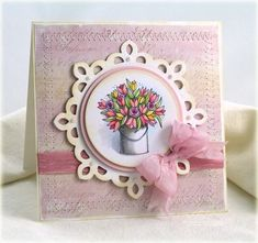 Beautiful colouring work on the flowers. #cards #spring #scrapbooking