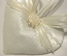 Victorian Wedding Lavender Sachet Heart with by RebeccasHearts, $13.50