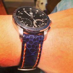 Tag Heuer Calibre Link S with custom strap #tagheuer #tag #heuer #calibre #link #links #armcandy #watchporn #wristgame #horloge #watch #custom