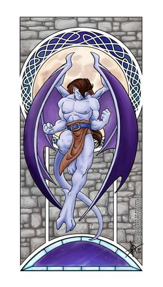 Buried Alive by Love by =KytheraOA on deviantART Gargoyles Cartoon, Disney Gargoyles, 90s Cartoons, Disney Cartoons, Carpe Noctem, Legendary Creature, Fan Art, Manga, Disney Love