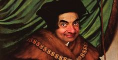 Artist Digitally Reimagines Historical Portraits With The Face Of Mr. Bean