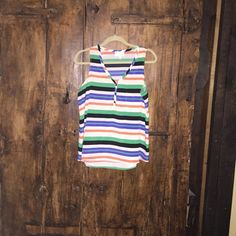 NWOT Striped sleeveless top Never worn. Tops