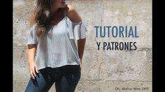 DIY costura hacer tu misma esta blusa o camiseta para mujer. La costura es muy sencilla!!!! Los patrones los tenéis disponibles y gratis en el blog. En este ...