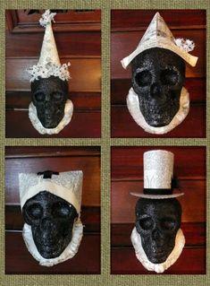 Dollar Store Crafts: Make Boutique Halloween Skull Decorations