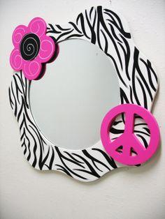 Mirror Funky Wall Decor Zebra Print