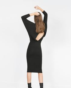 DRESS WITH BACK VENT