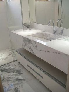 41 Impressive Marble Bathroom Sink Designs Ideas For Your Luxury Home - Vessel sinks have gained tremendously in popularity the last few years, and people have started to use them as functional enhancements of the style th. Bathroom Sink Design, Modern Bathroom Sink, Bathroom Design Luxury, Downstairs Bathroom, Small Bathroom, Bathroom Designs, Washbasin Design, Toilet Design, Home Room Design