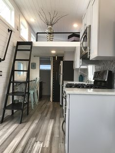 A custom-built 292 square feet tiny house on wheels built by Tiny Hamptons in East Quogue, New York.