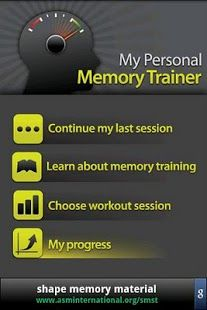 My Personal Memory Trainer App. Brain fitness game for early-stage Alzheimer's.