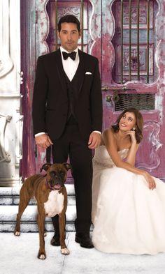 Trim Fit Beckett Tuxedo with Black Accessories Tux Rental, Formal Wear, Tuxedo, Wedding Dresses, Black, Style, Fit, Accessories, Fashion