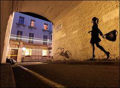 Stencil graffiti, love