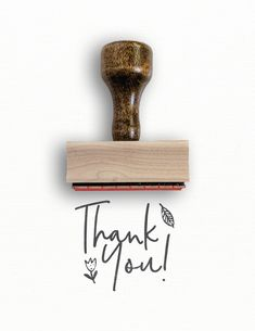 Rubber Stamp - Thank You Stamp - Porter Collection — Modern Maker Stamps Paper Bag Design, Rubber Stamping Techniques, Business Stamps, Seal Design, Handmade Stamps, Custom Stamps, Grafik Design, Stamp Collecting, Inspiration