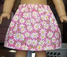Easy Doll Skirt tutorial. Make this skirt to fit your doll or even your daughter with these simple instructions!
