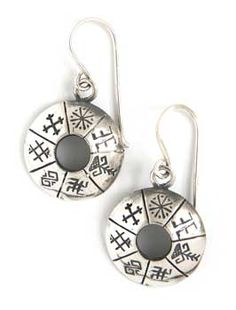 Latvian Earrings with Symbols of Protection