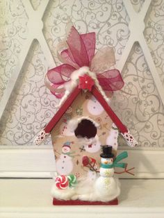 CHRISTMAS Birdhouse ORNAMENT for Grandma by BirdhouseGiftGallery, $15.00