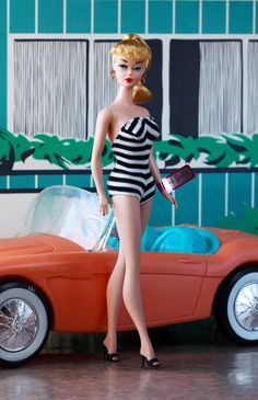Black and White Swimsuit Barbie Doll, designed by Bill Greening
