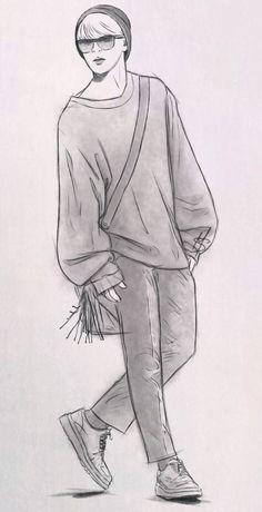 bts off stage doodles # 1 - Zeichnung Ideen Kpop Drawings, Art Drawings Sketches Simple, Pencil Art Drawings, Drawing Drawing, Jimin Fanart, Kpop Fanart, Doodle Art Name, Figure Sketching, Dibujos Cute