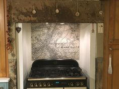 A Victorian street map centred on the customers postcode. Hob Splashback, Glass Splashbacks, Victorian Street, Ordnance Survey Maps, British Standards, Vintage Maps, Glass Kitchen, Aga, Present Day