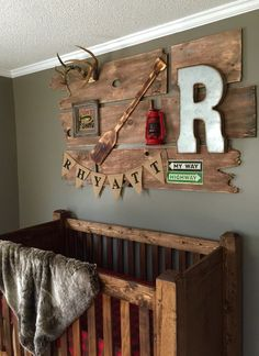 Rustic Nursery Boy, Rustic Baby Cribs, Rustic Baby Rooms, Rustic Crib, Outdoor Nursery, Plaid Nursery, Boy Nursery Colors, Woodland Nursery Boy, Baby Boy Nursery Themes