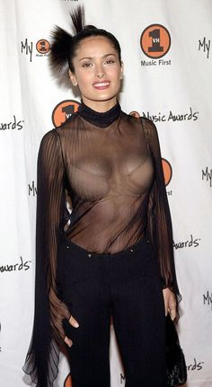 Nigella Lawson Body Measurements | Salma Hayek shows of her body and breasts in a see through top Jeans ...
