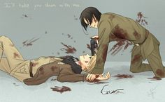 """It's the fact that Al is smiling that makes this picture frightening. (""""Hetalia North Korea vs. America."""")"""