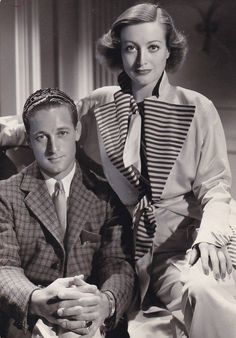 Joan Crawford with her brother Hal LeSueur - Photo by Hurrell on the set of Sadie McKee (1934)