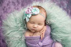 Purple & Teal for newborn photo!